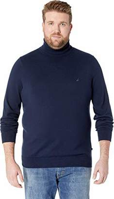 Nautica Men's Big and Tall Jersey Turtleneck Sweater