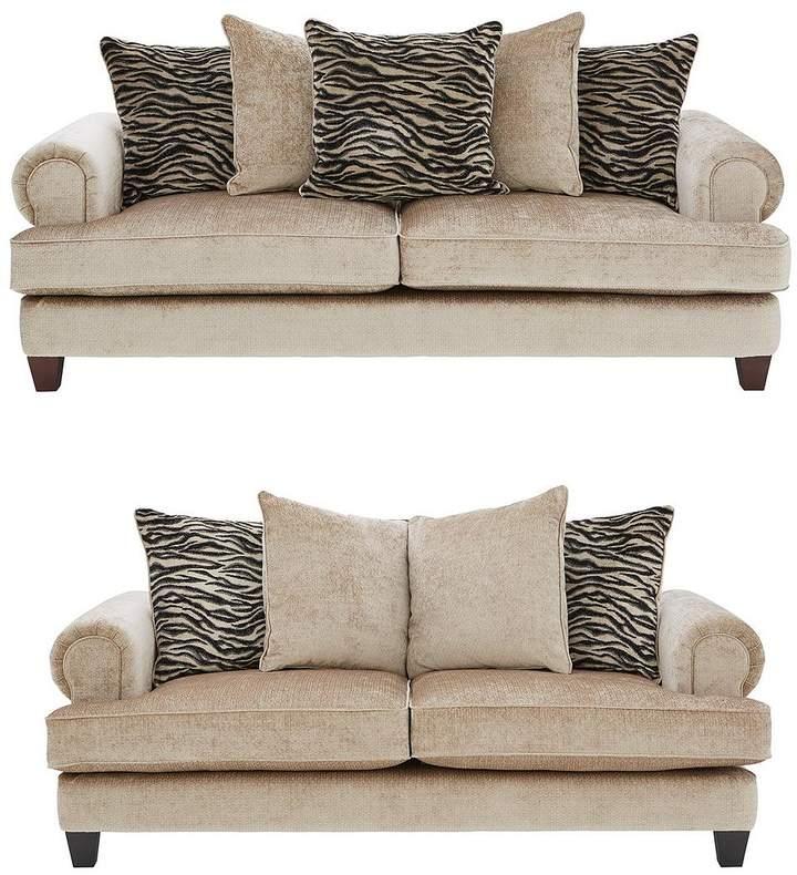 Safari 3 Seater + 2 Seater Fabric Sofa Set