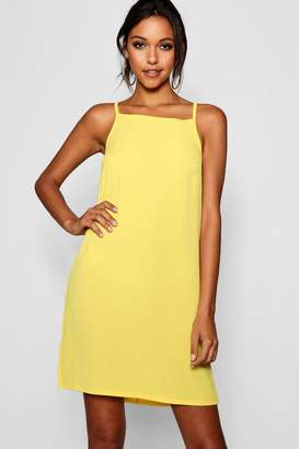 boohoo Tall Basic Square Neck Woven Cami Dress