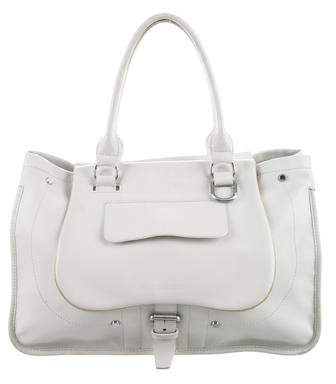 Longchamp Leather Balzane Tote - WHITE - STYLE