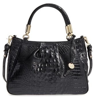 Brahmin 'Ruby' Croc Embossed Leather Satchel - Black $325 thestylecure.com