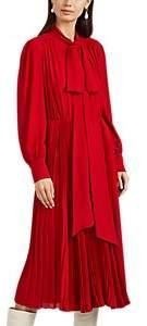 Valentino Women's Silk Tieneck Midi-Dress - Red