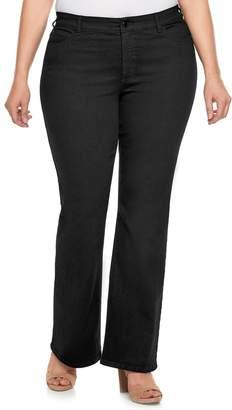 JLO by Jennifer Lopez Plus Size Black Bootcut Jeans