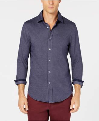 Tasso Elba Men's Herringbone Knit Shirt
