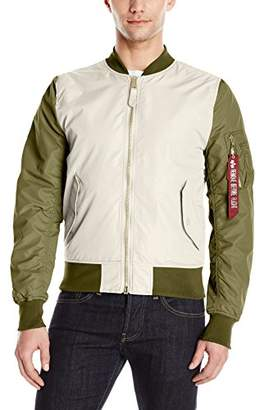 Alpha Industries Men's L-2B Dragonfly Blood Chit Mid Length Zip Flight Jacket