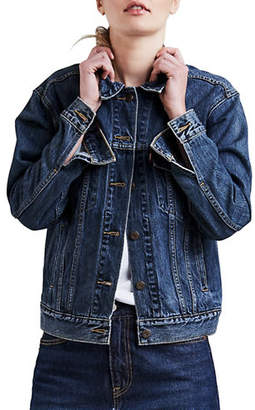 Levi's Ex-Boyfriend Stoop Culture Denim Trucker Jacket