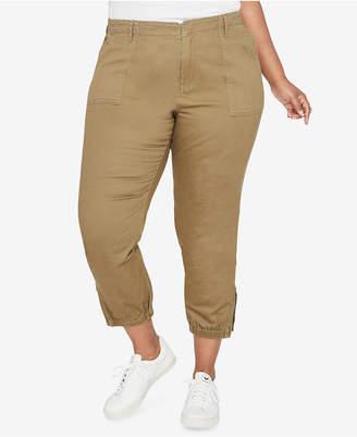 Rachel Roy Trendy Plus Size Cropped Military Pants