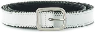 MM6 MAISON MARGIELA skinny zig-zag belt