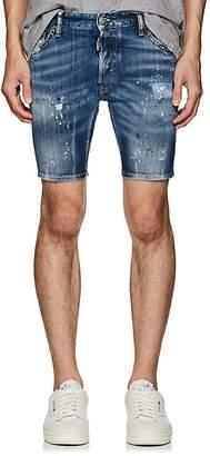 DSQUARED2 Men's Paint Splatter Denim Shorts