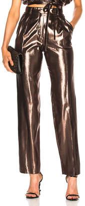 Alberta Ferretti Metallic Silk Trousers