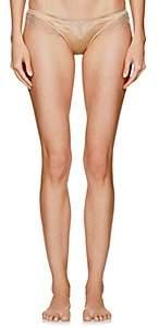 Kiki de Montparnasse Women's Sensual Lace-Trimmed Thong - Gold