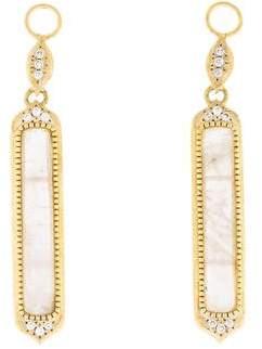 Jude Frances 18K Diamond & Moonstone Delicate Moroccan Earring Enhancers