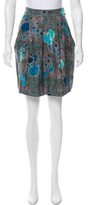 Lela Rose Printed Knee-Length Skirt