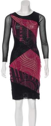 Jean Paul Gaultier Soleil Printed Knee-Length Dress