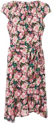 Dorothy Perkins Womens **Billie & Blossom Tall Pink Floral Print Frill Skater Dress