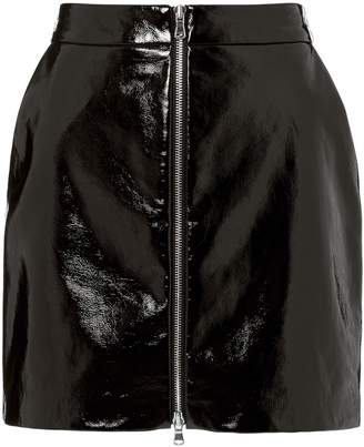 L'Agence Claudia Patent Leather Skirt