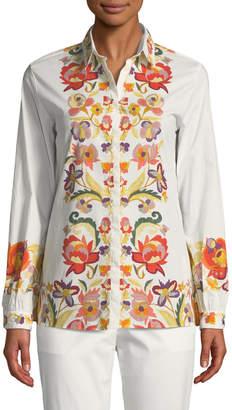 Etro Floral-Print Button-Front Blouse