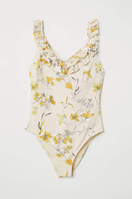 H&M Swimsuit with Ruffles - Beige