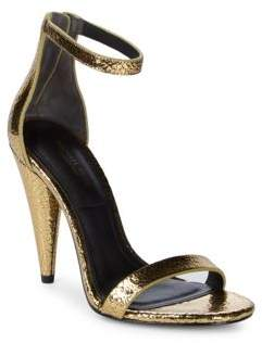 Michael Kors Ramsey Crackled Leather Ankle-Strap Pumps