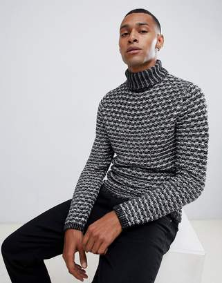 ONLY & SONS chunky knitted roll neck sweater