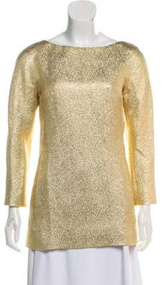 Michael Kors Textured Lamé Tunic w/ Tags Gold Textured Lamé Tunic w/ Tags