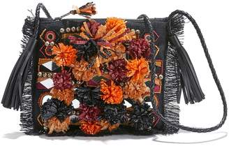 Antik Batik Charlie Pouch Embroidered Cross Body Bag with Tassel Trim