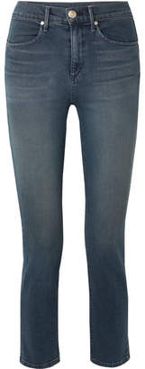 Rag & Bone Cigarette High-rise Slim-leg Jeans - Mid denim