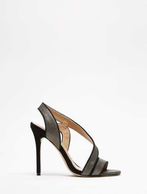 Halston Cora Cetris Leather High Heel Sandal