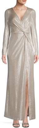 Eliza J Metallic Long Gown