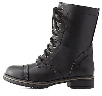 Lace-Up Combat Boots $38.99 thestylecure.com