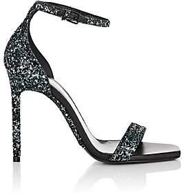 Saint Laurent Women's Amber Glitter Sandals - Green