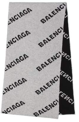 Balenciaga Camel and wool scarf