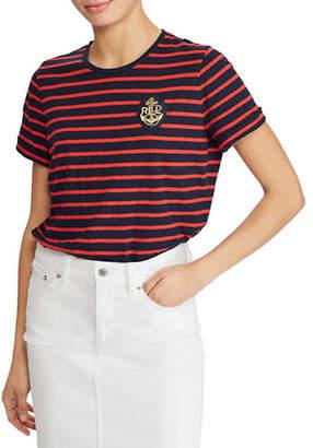 Lauren Ralph Lauren Petite Bullion-Patch Striped T-Shirt