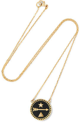 Foundrae Dream 18-karat Gold, Diamond And Enamel Necklace - one size