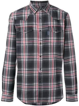Hydrogen checked shirt