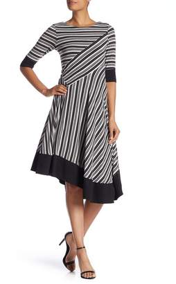 Rabbit Rabbit Rabbit Striped Asymmetrical Hem Dress