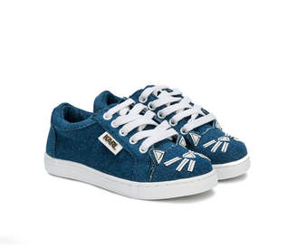 Karl Lagerfeld denim lace-up sneakers