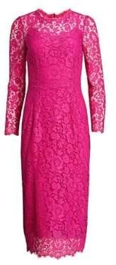 Dolce & Gabbana Long Sleeve Lace Midi Dress