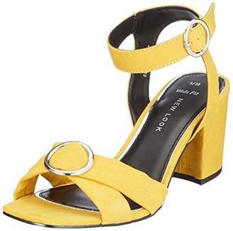 New Look Women's 5981189 Open Toe Heels, (Dark Yellow 87), 3 (36 EU)