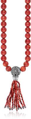 Thomas Sabo Power Necklace Red Sterling Silver and Coral Beads Long Necklace w/Tassel