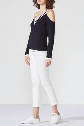 Bailey 44 Collegiate Cold-Shoulder Sweater