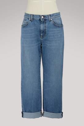 Alexander McQueen Embroidered boyfriend jeans