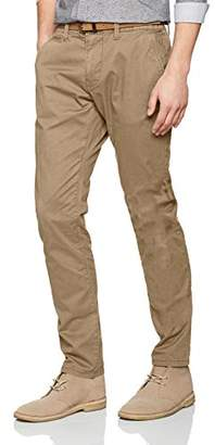 Tom Tailor Men's Trousers Travis Casual Chino w/Belt, Beige (Chinchilla 8443), 34/32