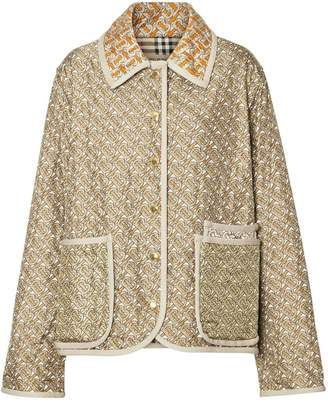 Burberry Monogram Print Quilted Silk Jacket