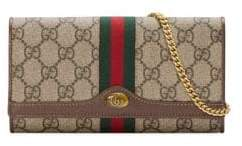 Gucci Women's Ophidia Wallet On Chain - Beige Chocolate