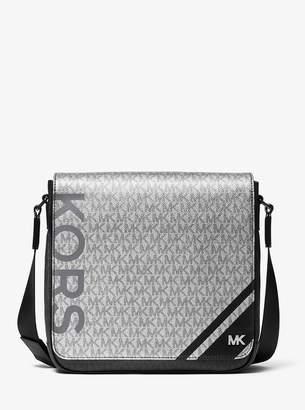 Michael Kors Medium Color-Block Logo Messenger Bag