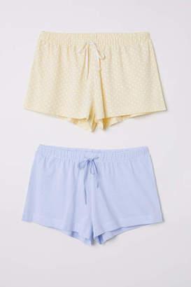 H&M 2-pack Pajama Shorts - Light blue - Women