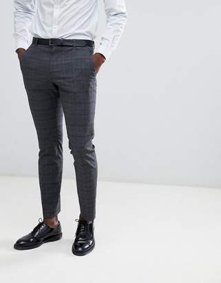 Selected Slim Fit Suit PANTS In Gray Check