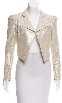 Alice + Olivia Metallic Silk Blazer