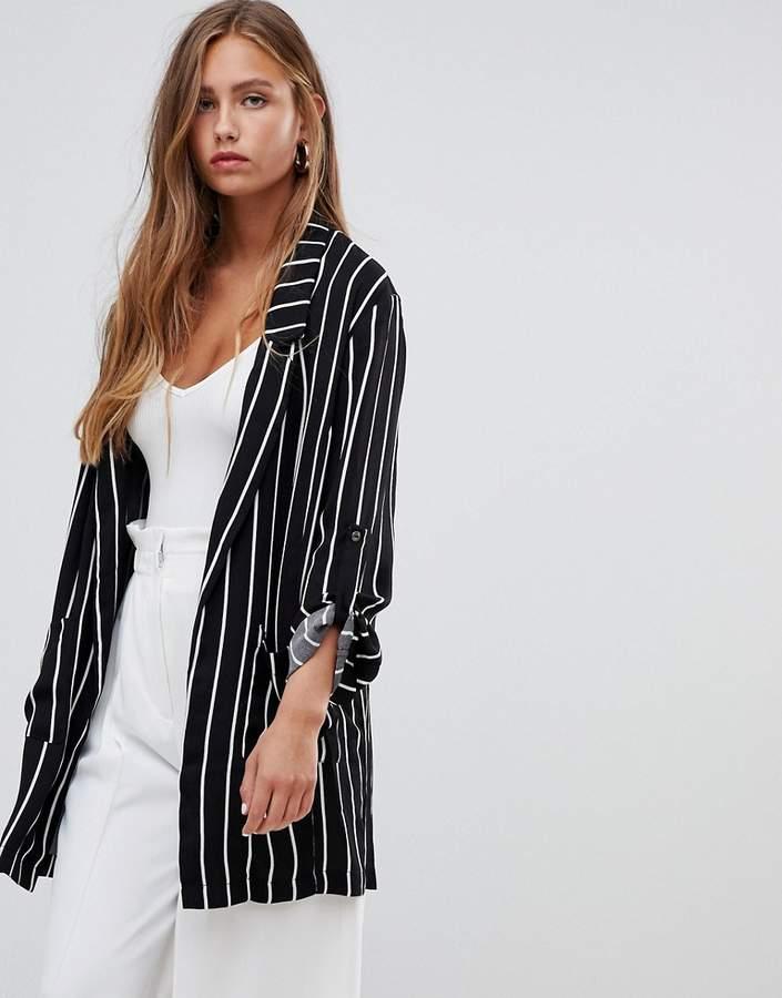 stripe blazer